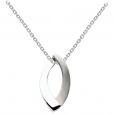Dew Silver Open Loop Satin Pendant