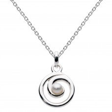 Dew Silver Freshwater Pearl Spiral Pendant