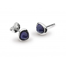 Kit Heath Silver Coast Pebble Lapis Lazuli Studs Earrings