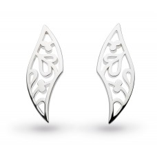 Kit Heath Silver Blossom Flourish Small Studs