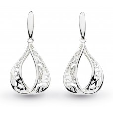 Kit Heath Silver Blossom Flourish Drop Earrings