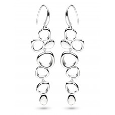 Kit Heath Silver Coast Shore Sandblast Drop Earrings