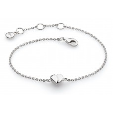 Kit Heath Silver Miniature Sweet Heart Bracelet