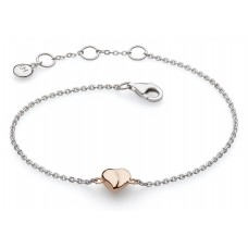 kit Heath Silver Miniature Sweet Heart Rose Gold Plate Bracelet