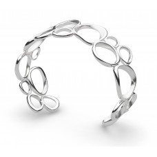 Kit Heath Silver Coast Shore Cascade Sandblast Cuff