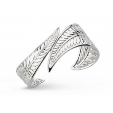 Kit Heath Silver Blossom Eden Leaf Cuff