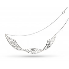Kit Heath Silver Blossom Flourish Double Twist Necklace