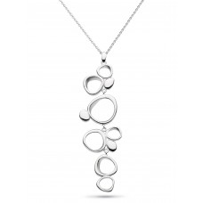 Kit Heath Silver Coast Shore Sandblast Necklace