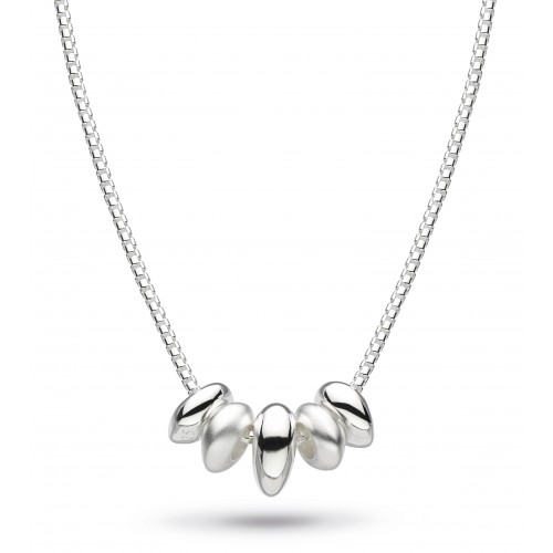 Kit Heath Silver Coast Tumble Pebble Sandblast Necklace