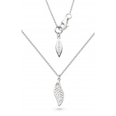 Kit Heath Silver Blossom Eden Mini Leaf Necklace