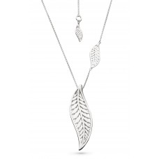Kit Heath Silver Blossom Eden Grande Leaf Necklace