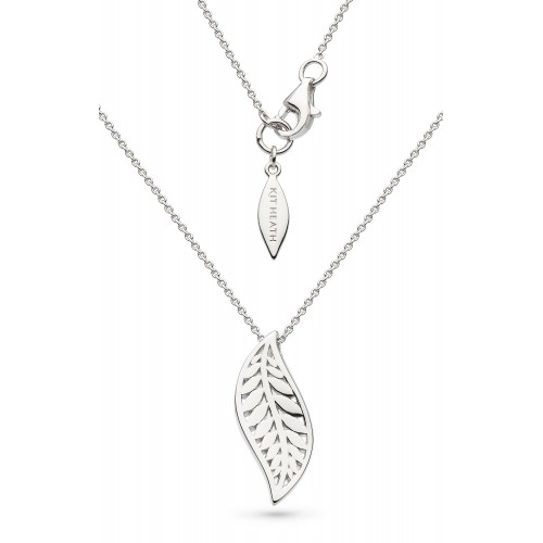 Kit Heath Silver Blossom Eden Leaf Necklace