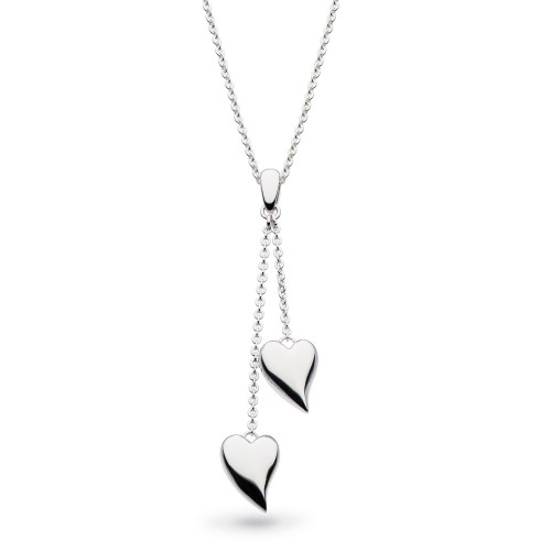 Kit Heath Silver Desire Forever Lust Heart Lariat Necklace
