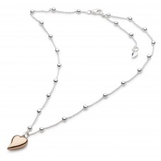 Kit Heath Silver Desire Cherish Rose Gold Heart Necklace