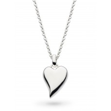 Kit Heath Silver Desire Forever Lust Heart Rounded Necklace