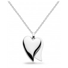 Kit Heath Silver Desire Love Affair Heart Large Necklace