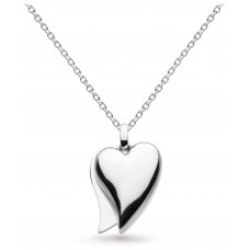 Kit Heath Silver Desire Love Affair Heart Necklace