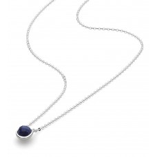 Kit Heath Silver Coast Pebble Lapis Lazuli Mini Necklace