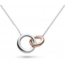 Kit Heath Silver Bevel Cirque Rose Gold Plate Necklace