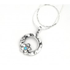 Aviv Silver Opal Daisy Necklace