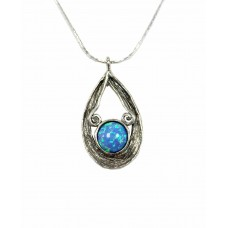 Aviv Silver Opal Teardrop Necklace