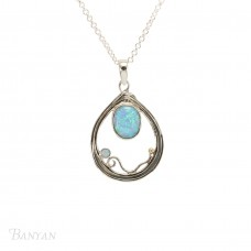 Banyan Silver Tearop Opalite Necklace